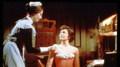 "From lelft, Jean Marsh as Rose and Leslie Anne Down as Georgian Worsley in the original ""Upstairs Downstairs."""