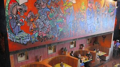 At Mad Mex in Shadyside, Pittsburgher Rick Bach's wild mural creates a lively ambience.