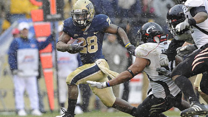 Running back Dion Lewis rushed for 2,860 yards and 30 touchdowns in two seasons at Pitt.