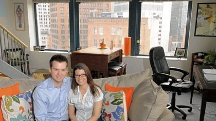 Paul Hlivko and Melinda Urick have been living in The Penn Garrison Apartments, Downtown, since last September.