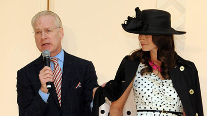 "Tim Gunn, co-host of ""Project Runway"" on Lifetime, talks fashion at the Ross Park Mall on Saturday."