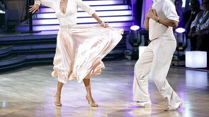 Hines Ward and Kym Johnson were among the five remaining pairs performing two dances Monday night on &quot;Dancing With the Stars.&quot;