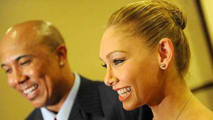 Hines Ward and his Dancing with the Stars partner Kym Johnson.