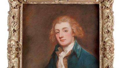 Portrait of John Mills by George Romney.