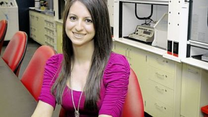 Robert Morris University senior Molly Pawlikowski, a nuclear medicine technology student, hopes to attend graduate school to become a physician assistant.