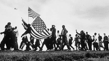 The Selma to Montgomery March for Voting Rights in 1965 is among events re-created by graduate students at IUP using the online game Second Life.