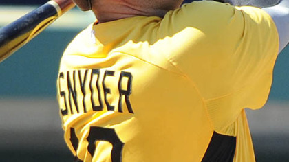 Pirates catcher Chris Snyder had 15 home runs last season.