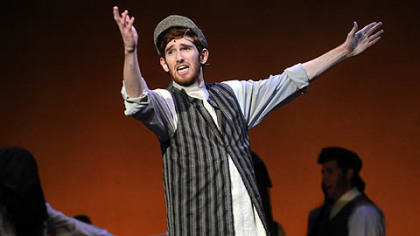 "Luke Halferty from Central Catholic was named Best Actor as Tevye in ""Fiddler on the Roof."""
