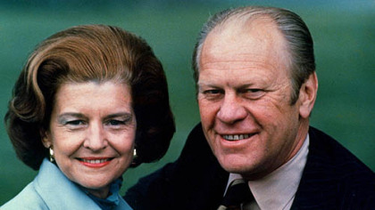 A July 1975 photo of President Gerald Ford and his wife Betty Ford.