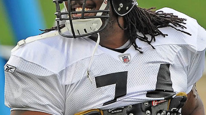 Steelers offensive lineman Willie Colon.