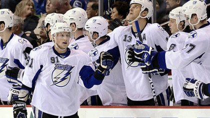 Forward Steven Stamkos leads the Lightning with 56 points this season.