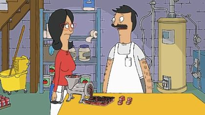 "Characters Bob and Linda in Sunday's premiere episode of Fox's ""Bob's Burgers."""