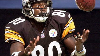 Wide receiver Plaxico Burress spent five seasons with the Steelers.
