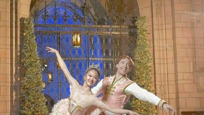 "The Pittsburgh Ballet Theatre will perform ""The Nutcracker"" five more times in its 2010-11 season than it did last season. Shown dancing the Sugar Plum Fairy and Cavalier last December are Kumiko Tsuji and Christopher Budzynski"