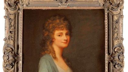 "George Romney's painting of ""Mrs. Bruce"" will remain at the Carnegie Museum of Art."