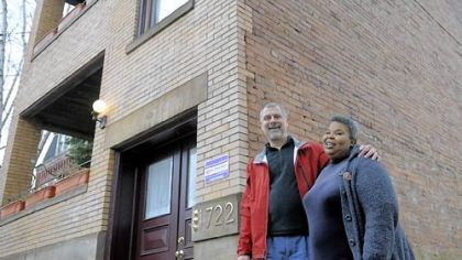 Greg Mucha, left, and Ronell Guy own and manage properties on Brighton Place in California-Kirkbride. She advocates for Section 8 tenants, he advocates for more market-rate investment.