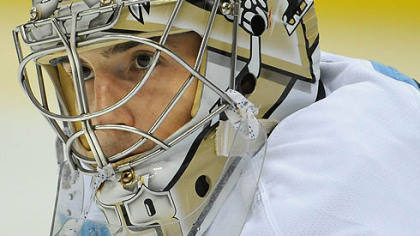 Penguins goaltender Marc-Andre Fleury.