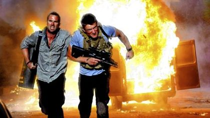 "Sullivan Stapleton and Philip Winchester in ""Strike Back."""