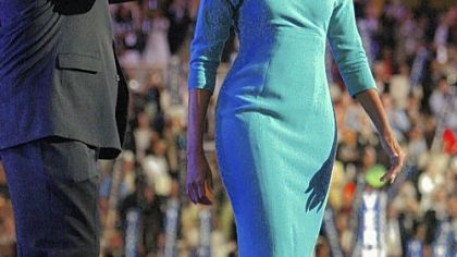 Michelle Obama in a Maria Pinto dress
