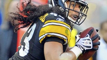 Troy Polamalu strips the ball from Ravens QB Joe Flacco, setting up the go-ahead TD late in a 13-10 victory Dec. 5 -- a win that ultimately decided the division.