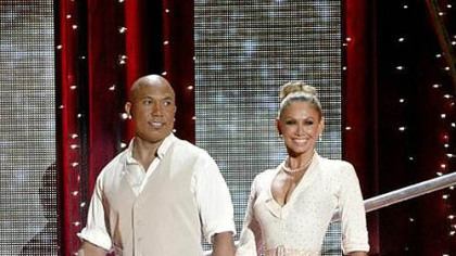 Hines Ward and Kym Johnson and the other &quot;Dancing With the Stars&quot; pairs performed one ballroom number and one &quot;Instant Dance&quot; Monday.
