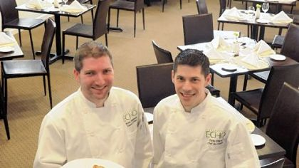 Echo's executive chef Brian Hammond, left, and chef de cuisine Chris O'Brien.