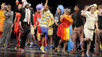 "Pittsburgh Schenley students perform ""Seussical,""  which won the best musical budget level one at the Gene Kelly Awards for Excellence in High School Musical Theater."