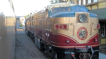 The Napa Valley Wine Train leaves from downtown Napa for lunch and dinner rides up Napa Valley to St. Helena and back.
