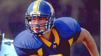 Preston Plevretes when he played football for LaSalle University.