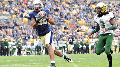 Former Pitt wide receiver Jonathan Baldwin could be selected in the first round of the NFL draft.