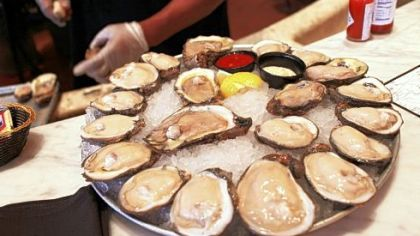 Louisiana oysters are a specialty at the Bourbon House restaurant.