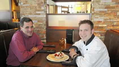 Operating partner Nick Koustis, left, and executive chef Jonathan Mulgrave of Juniper Grill