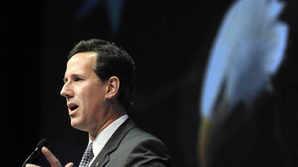 Rick Santorum (shown here in Pittsburgh last month) is winning goodwill with his time and money in South Carolina.