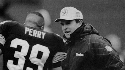 Former Steelers Dom Capers and defensive back Darren Perry. Both are currently coaches with the Packers.