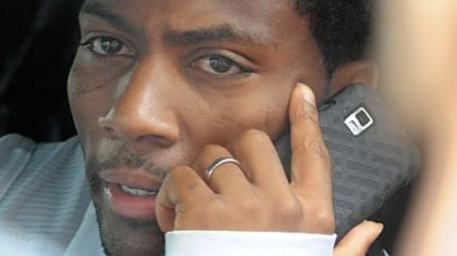 Steelers safety Ryan Clark takes a phone call before leaving the South Side training facility Tuesday after federal judge Susan Nelson had ruled a day earlier that the lockout by the NFL was illegal. She also refused to grant the league a stay of her ruling, thus opening team facilities to the players while the appeals process moves forward.