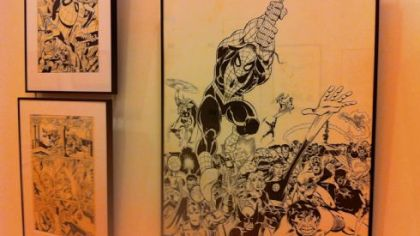 Spider-Man art by Gil Kane/John Romita is featured at ToonSeum, Downtown.