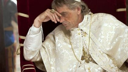 Jeremy Irons is Rodrigo Borgia, aka Pope Alexander VI, in &quot;The Borgias.&quot;