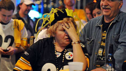 It's headache time for June Hough Repic when the Steelers lose the game.