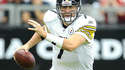 Quarterback Ben Roethlisberger looks to throw Sunday against the Cardinals. He completed 26 of 39 passes for 361 yards and his highest passer rating this season -- 121.8.
