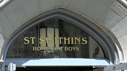 The rear entrance of Trinity Cathedral on Oliver Avenue was made into the entrance for St. Swithin's Home for Boys.