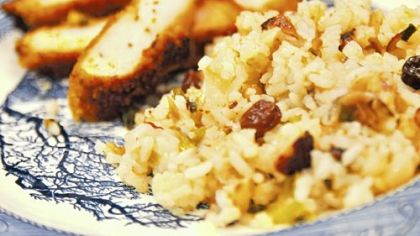 Mom's Rice Stuffing with Water Chestnuts, Apples and Hazelnuts