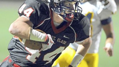 Upper St Clair's Zack Deitrick, a senior running back, has scored 10 touchdowns this season, helping the Panthers to the WPIAL Class AAAA quarterfinals.