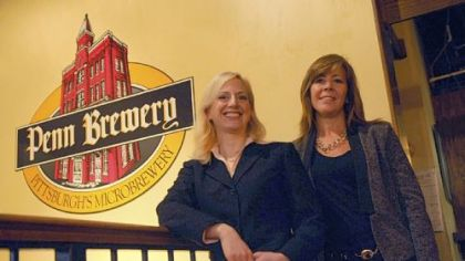 Penn Brewery President & CEO Sandy Cindrich and Marketing director Linda Nyman.