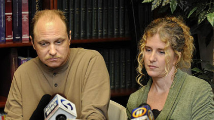 Michael Yocabet and Christina Mecannic at the office of their attorney, Harry S. Cohen, talk about their lawsuit against UPMC. In May 2011, Yocabet received a kidney from Mecannic, who later learend she had hepitatis C, which Mr. Yocabet now also has.