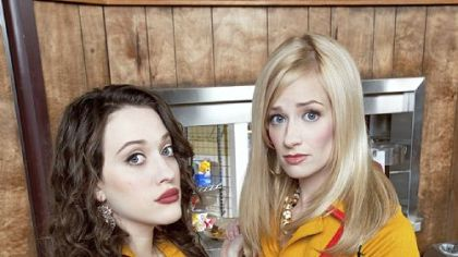 "Kat Dennings, left, and Beth Behrs play ""2 Broke Girls."""