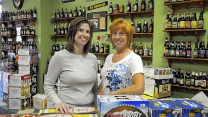 Jaime Hively and her mother Diana Bellisario own and operate Mellinger's Beer Distributor in Oakland.