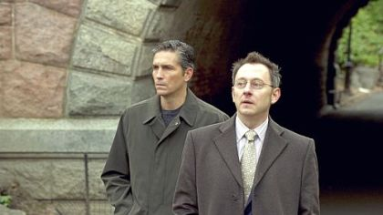"Jim Caviezel, left, and Michael Emerson have their eye on everyone in ""Person of Interest."""