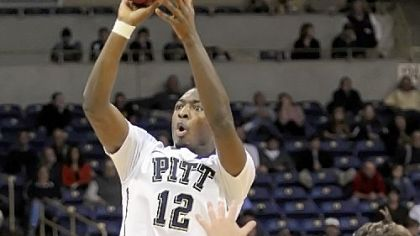 Pitt&#039;s Ashton Gibbs gets a shot up against Kentucky Wesleyan Nov. 7 at Petersen Events Center.