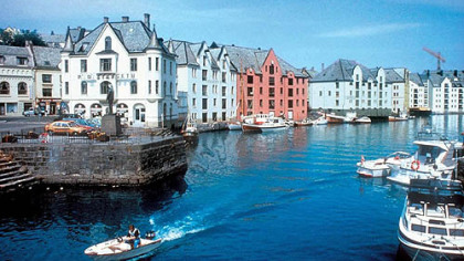 Alesund is one of the 34 stops on the Hurtigruten Cruise Lines itinerary.