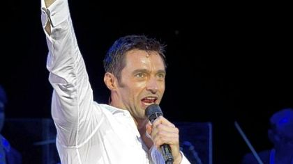 Hugh Jackman is enjoying himself in his one-man show.